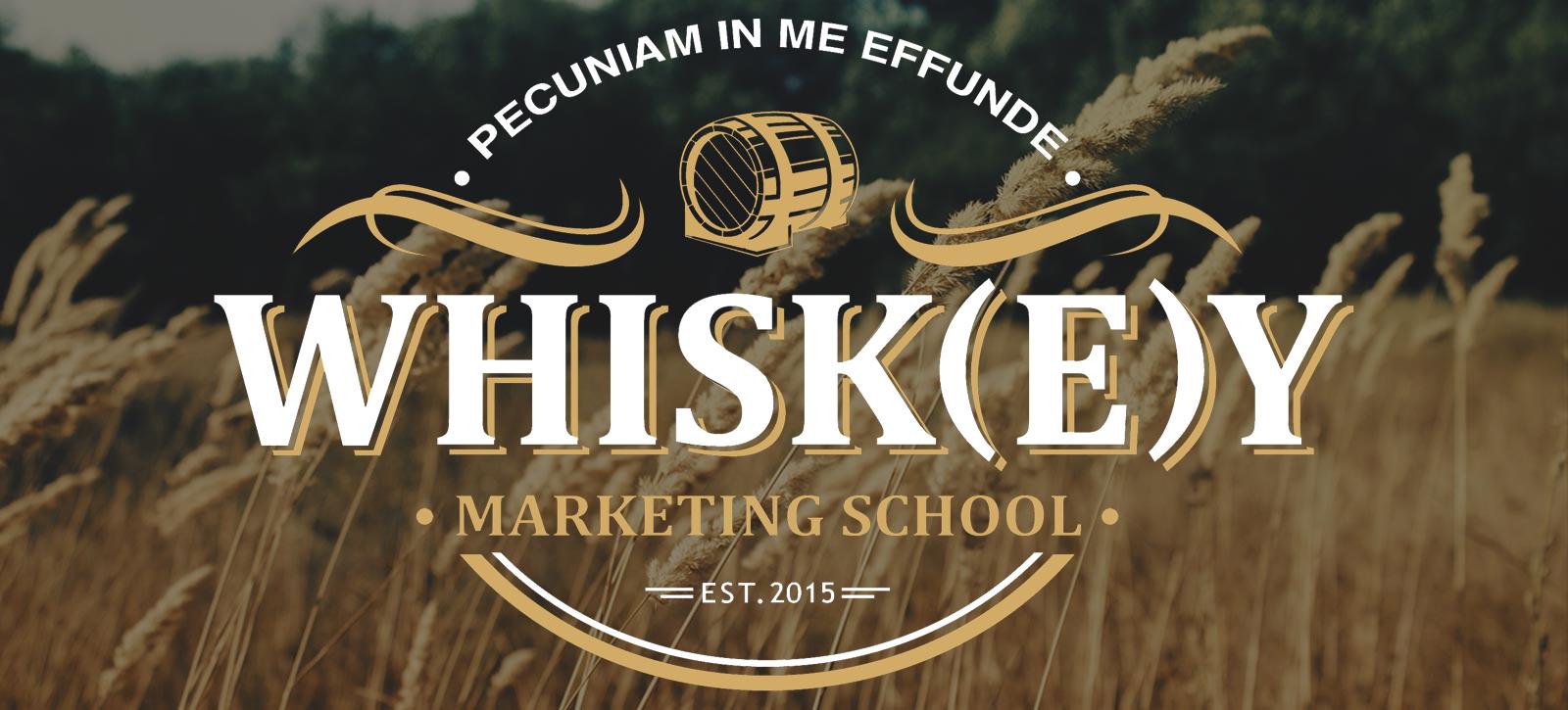 Whisky Marketing Wheat Header with Logo